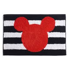 Micky Mouse Rug Mickey Mouse Stripe Bath Rug