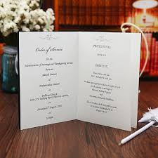 printing wedding programs blue wedding program free customized printing monogram marriage