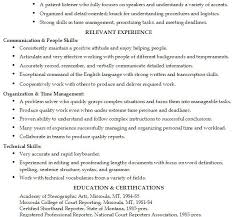 Court Reporter Resume First Class Customer Service Skills Resume 12 25 Best Ideas About
