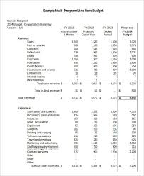 Non Profit Budget Template Excel 6 Non Profit Budget Template Free Sle Exle Format