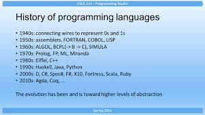 csce 314 programming languages ppt video online download