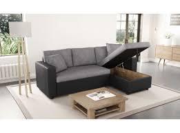 canapé d angle gris et noir canapé d angle réversible et convertible avec coffre gris noir