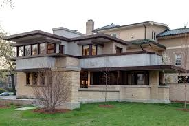 Frank Lloyd Wright Style House Plans Frank Lloyd Wright Home Design With Nathan G Moore House In Oak