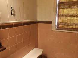 bathroom pink ideas drop gorgeous tub brown and green tile paint