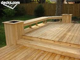 Deck Planters And Benches - instead of a railing closing off the deck i love this idea to