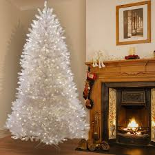 buy the 7 5 ft pre lit white dunhill fir artificial