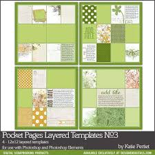 Pocket Pages Pocket Pages Layered Templates No 03 Katie Pertiet Pse Ps