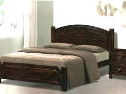 dark wood bed frame bedroom elegant white brick wall matte black