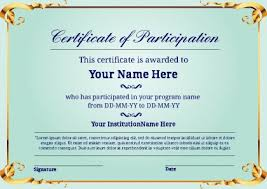 certificate of participation word template free certificate