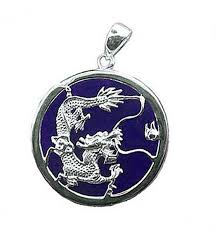 silver dragon pendant necklace images Lapis lazuli sterling silver dragon medallion jpg