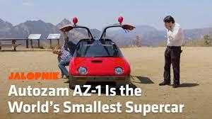 autozam az 1 the autozam az 1 is the world u0027s smallest supercar
