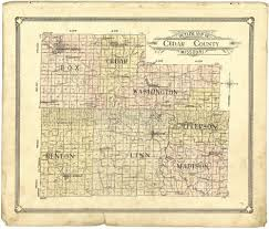 plat maps 1908 cedar county plat maps atlas old genealogy history missouri