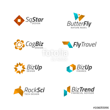 logo design templates vector abstract geometric shapes plane