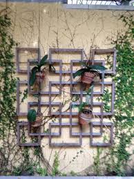 trellis w potted plants trellis pinterest chinese style