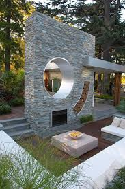 stone siding wall modern landscaping ideas can be combined with