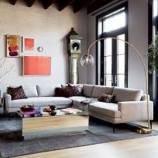 west elm arc l andes l shaped sectional west elm