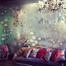fleurs dans une chambre papier peint chambre adulte romantique daccoration chambre