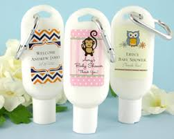 personalized baby shower favors exclusive personalized baby shower sunscreen my wedding favors