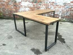 industrial desk l industrial desk l shaped style with reclaimed by gaming desks and