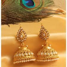 gold jhumka earrings design beautiful jhumka earrings designs 20 womenitems