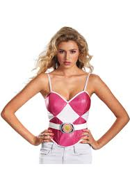 Pink Ranger Halloween Costume Pink Power Rangers Bustier Women Escapade Uk