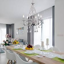Elongated Crystal Chandelier Wayfair - Crystal chandelier dining room