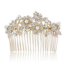 pearl hair comb bouquet of gold pearl hair comb glitzy secrets