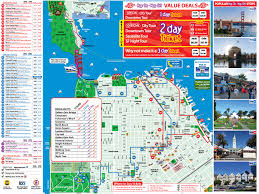 Sf Bart Map City Sightseeing San Francisco Map Michigan Map
