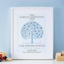 christening gifts personalised christening tree print by spratt baby