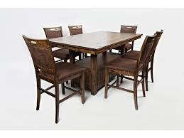 jofran dining room cannon pub table and six pub chairs bob mills jofran dining room cannon pub table and six pub chairs bob mills furniture oklahoma