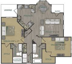 luxury one two three bedroom apartment homes with spacious b2lg floor plan 9