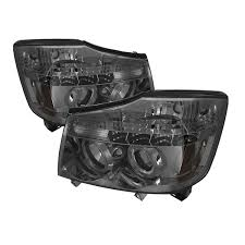 nissan titan headlight bulb amazon com spyder auto nissan titan nissan armada black halogen