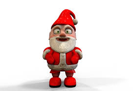 Lawn Gnome by Santa Claus New Year Christmas Happy Gnome Garden Sculpture Cele