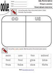 primary level 2 worksheets grade two vowel digraphs