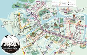 Map Russia Tourist Map Of St Petersburg Russia Saint Petersburg Tourist Map