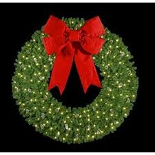 lighted wreaths happy holidays
