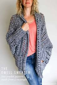 free crochet patterns for sweaters easy chunky crochet sweater free pattern from do crew