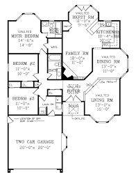 Traditional Floor Plan Regency Ranch Home Plan 016d 0075 House Plans And More