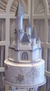 cinderella castle wedding cake winter wonderland wedding