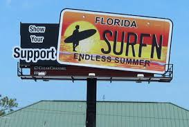 Florida Vanity Plate Cost Preserve Surfing Beaches Get Florida U0027s Endless Summer License