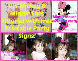 crafty moms share diy mickey minnie mouse ears free