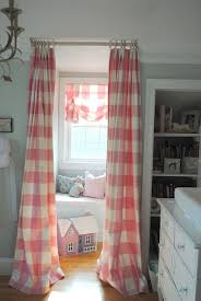 Pink Gingham Curtains The Large Buffalo Check Curtains In Pink And Ivory And Light
