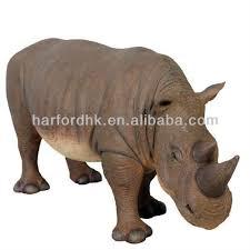 size rhino fiberglass resin garden animals ornament