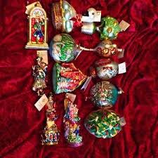 christopher radko 12 days of ornament set new w all