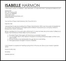 administration cover letter samples letters font