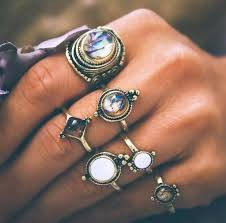 knuckle finger rings images Ravimour antique gold knuckle rings for women shell design jpg
