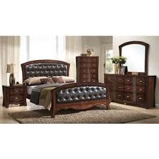 Size Queen Glass Bedroom Sets Shop The Best Deals For Jun - Lorrand 5 piece cherry finish bedroom set