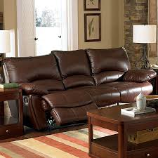 Brown Leather Recliner Sofa Set Shop Coaster Furniture Clifford Brown Leather Sofa At