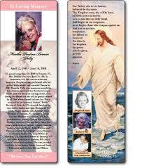 memorial bookmarks plastic and laminated bookmarks and memorial cards ilc