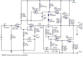 100 watts subwoofer lifier circuit diagram lifiers